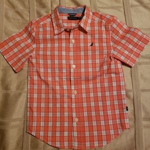 NAUTICA Plaid Button Up Shirt, sz 6 Large